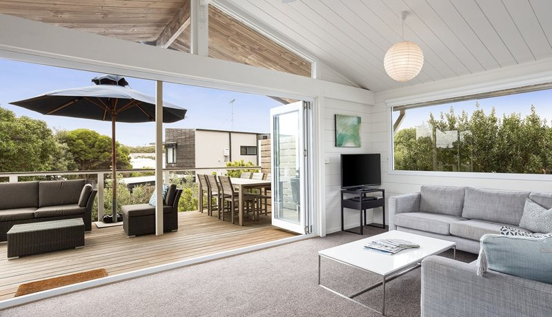 A relaxed style home, located opposite the Pt Lonsdale back beach
