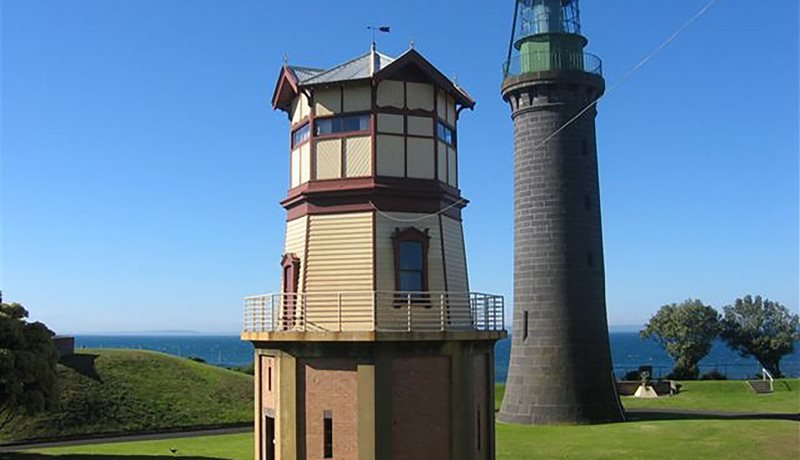 Signal Station and Black Lighthouse both seen our your tour at Fort Queenscliff