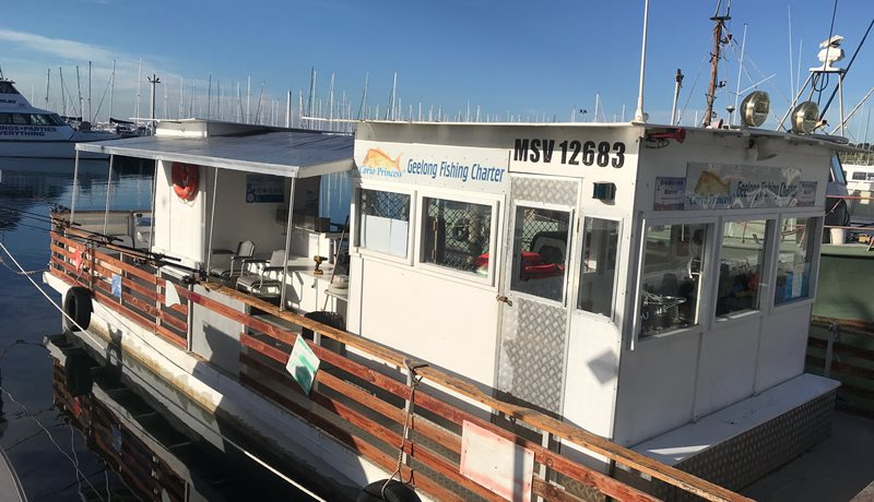 """The """"Corio Princess"""", a flat-level, wheelchair-friendly covered vessel with a toilet and bar"""
