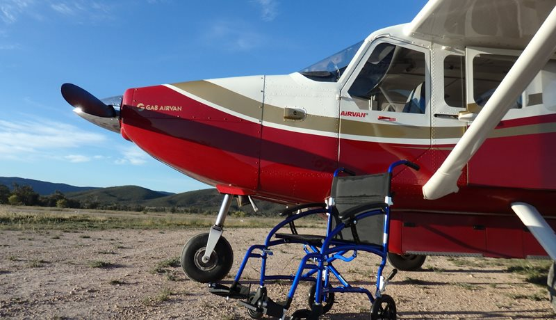 The airvan showing a wheelchair in the photo
