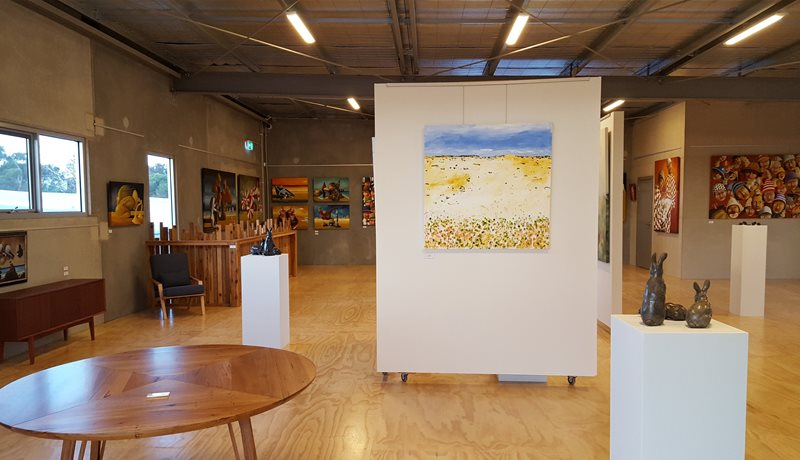 Upstairs at The Hive Gallery