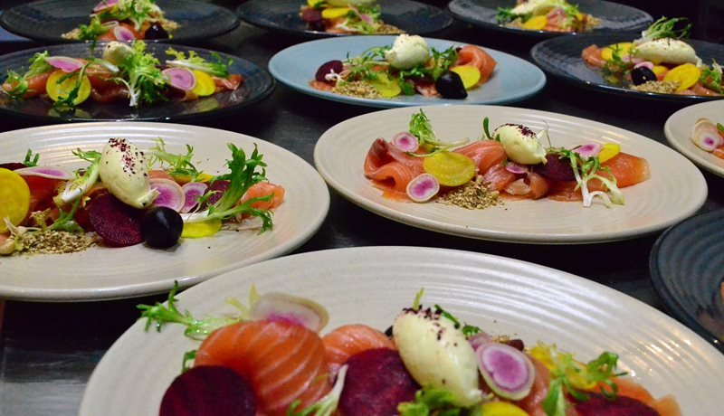Timboon Vodka infused Smoked Salmon with beets