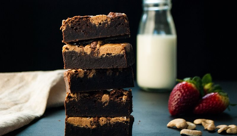 Bellarine Brownie Company- Cashew Butter and Sea Salt Brownie Stack