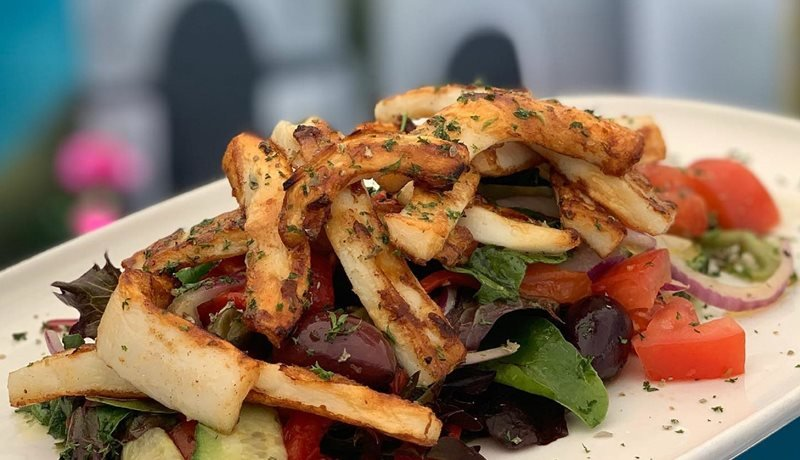 Salt n Pepper Calamari Salad