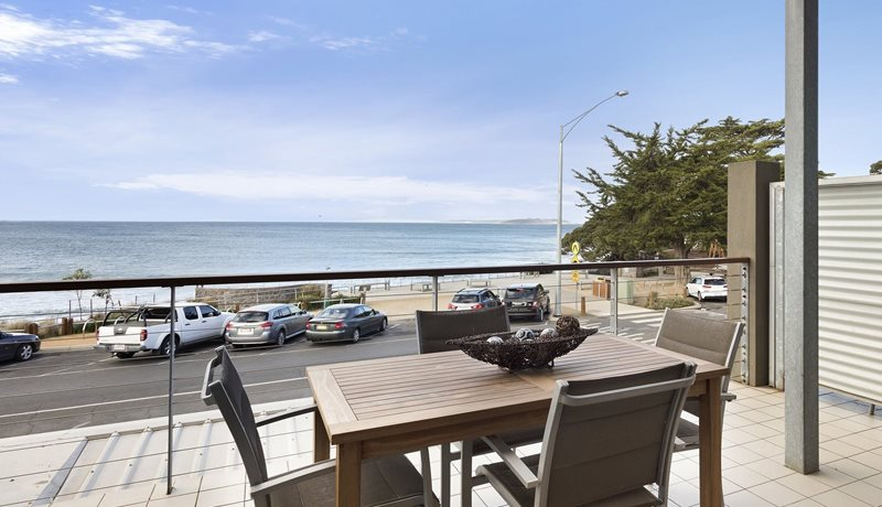 Stunning beach views from a popular rental in Point Lonsdale