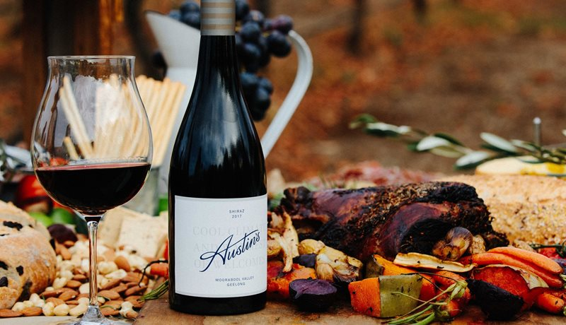 Austin's Wines - cool climate Shiraz with roast lamb.