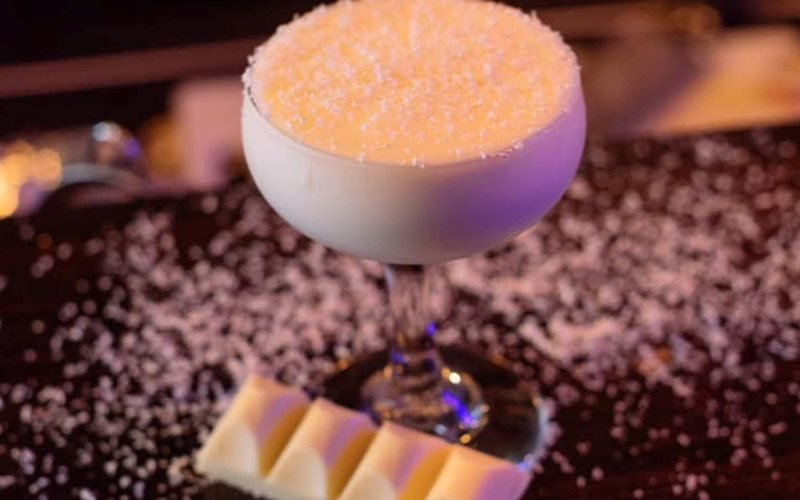 White Chocolate and Passionfruit Cocktail