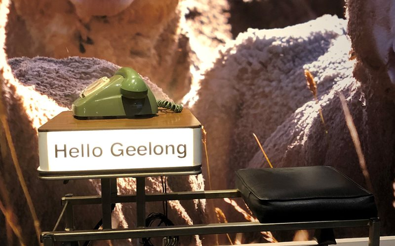 Hello Geelong at the National Wool Museum