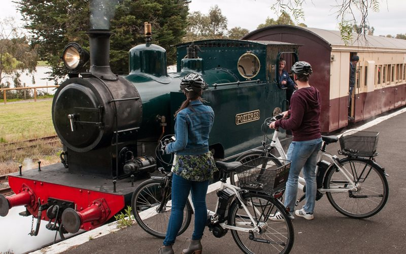 Steam train at Drysdale Station