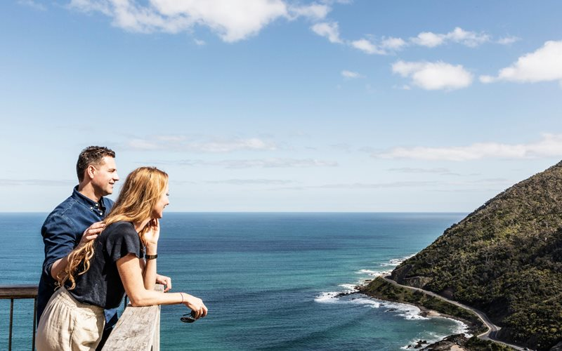 Enjoy the scenic views of the Great Ocean Road on a nature walk.