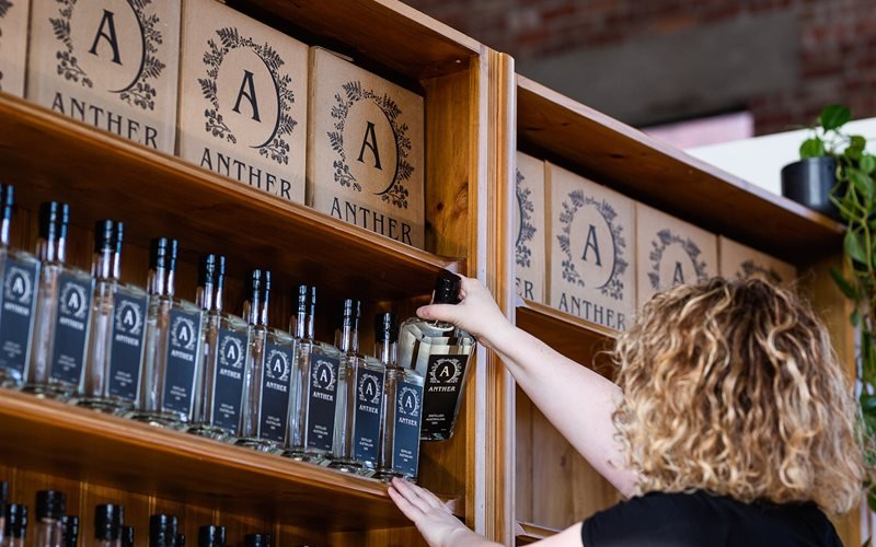 Purchase gin, local products at The Anther Distillery