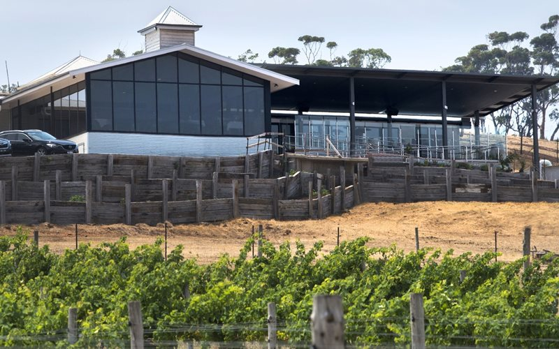 View of Restaurant from the Vineyard Block 13