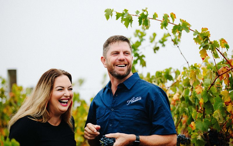 Scott and Belinda Austin, second generation owners of Austin's Wines