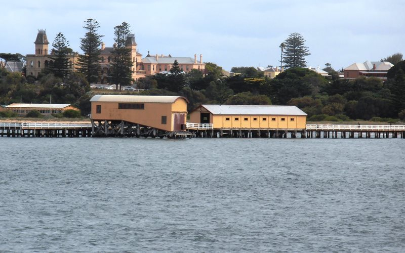 The Queenscliff Pier with Lifeboat Shed at end