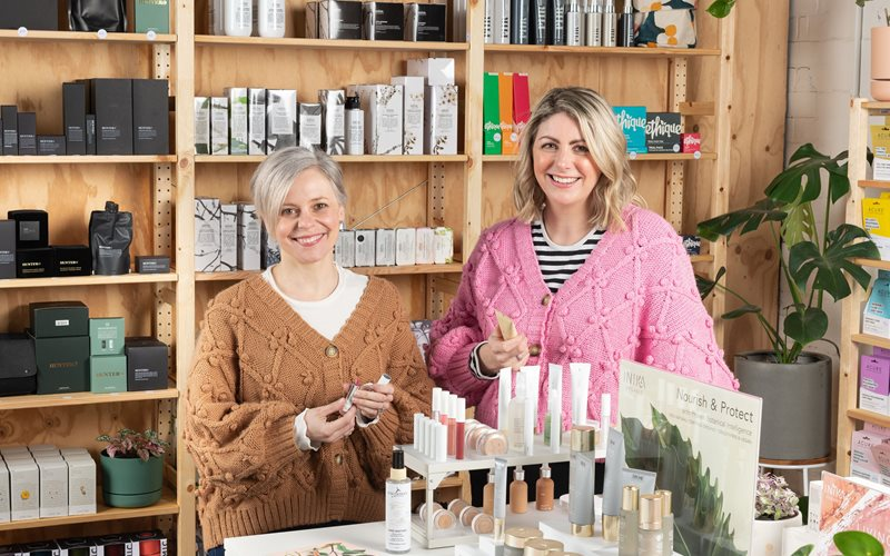 Natural Supply Co owners, Sarah Scott and Celeste Robertson