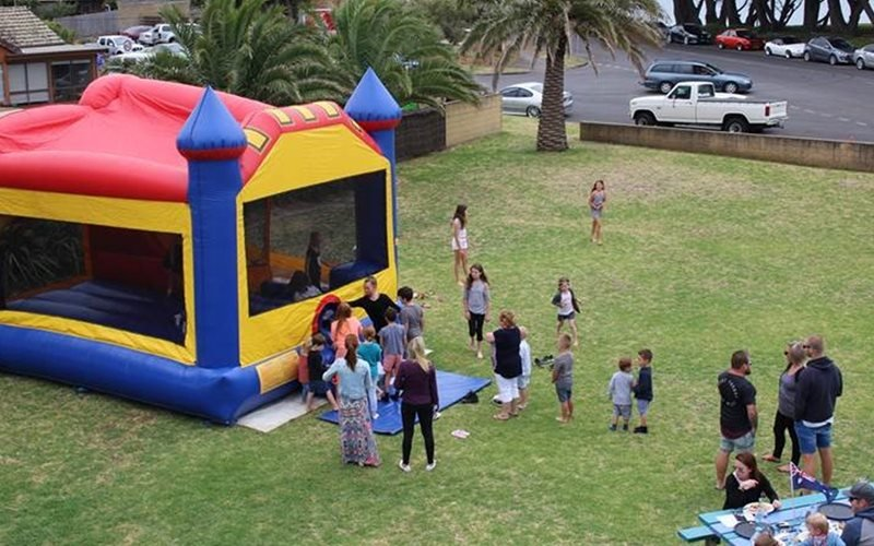 A jumping castle in the beer garden for the kids to enjoy while parents relax
