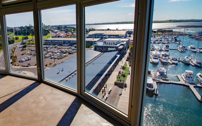 The view from the 360Q restaurant observation tower at Queenscliff
